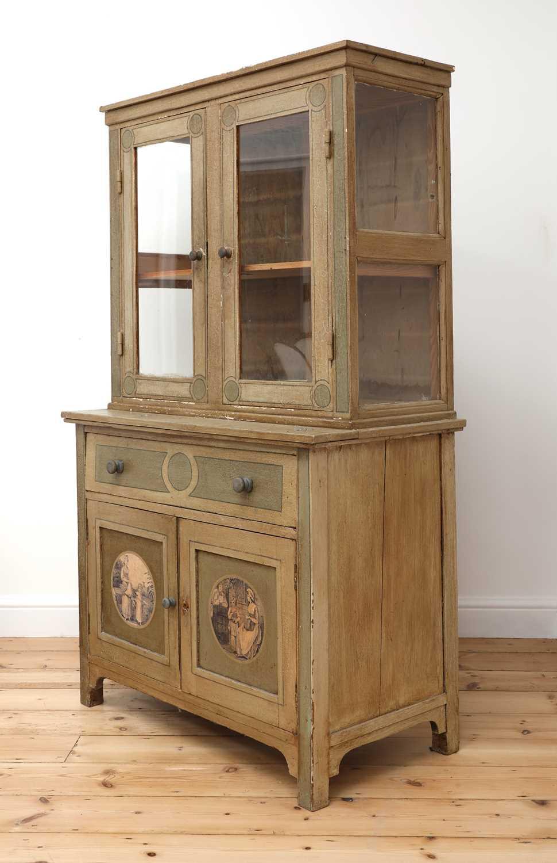 A painted oak larder cupboard, - Image 2 of 8