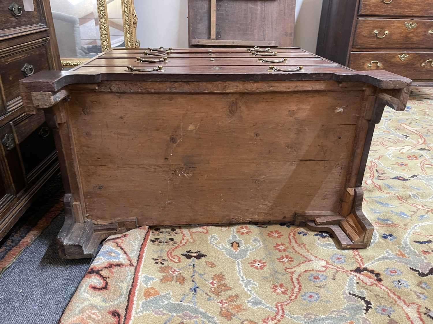 A George III mahogany caddy-top chest of drawers, - Image 27 of 48