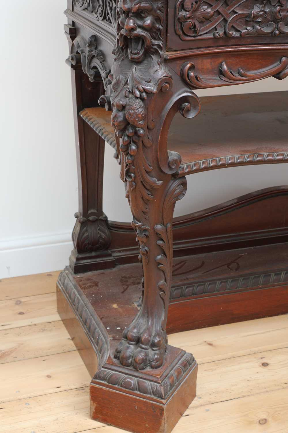 A mahogany serving table by Gillows of Lancaster, - Image 4 of 5