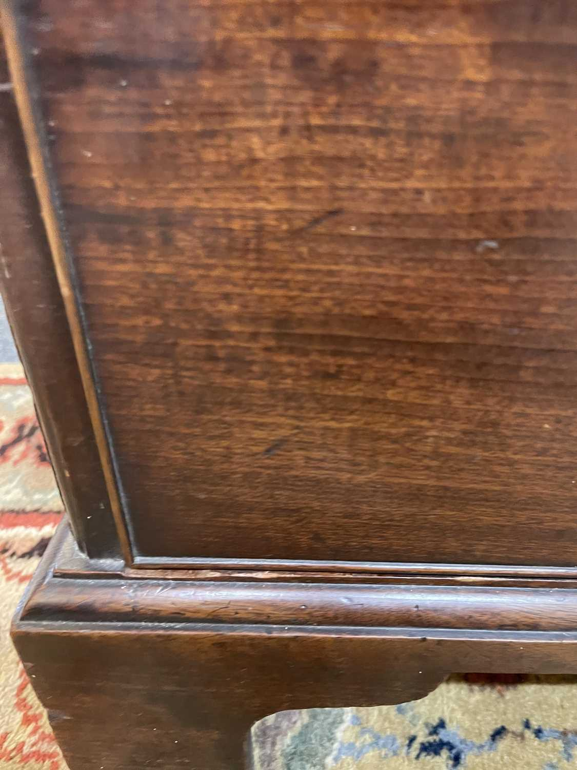 A George III mahogany caddy-top chest of drawers, - Image 13 of 48