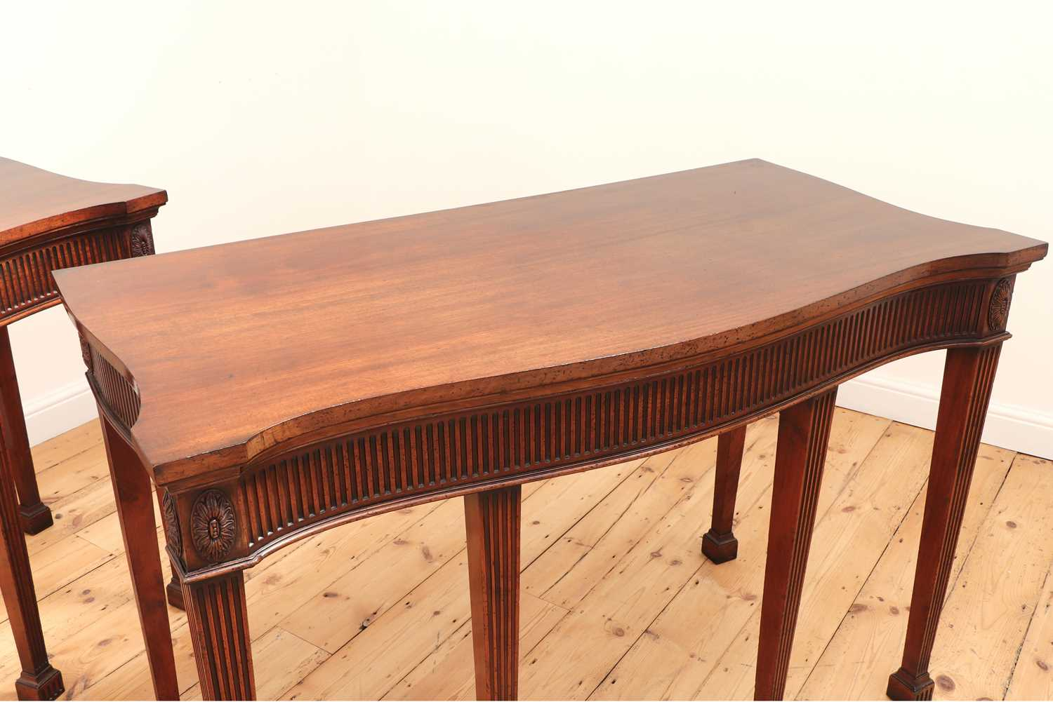A pair of mahogany console tables, - Image 6 of 10