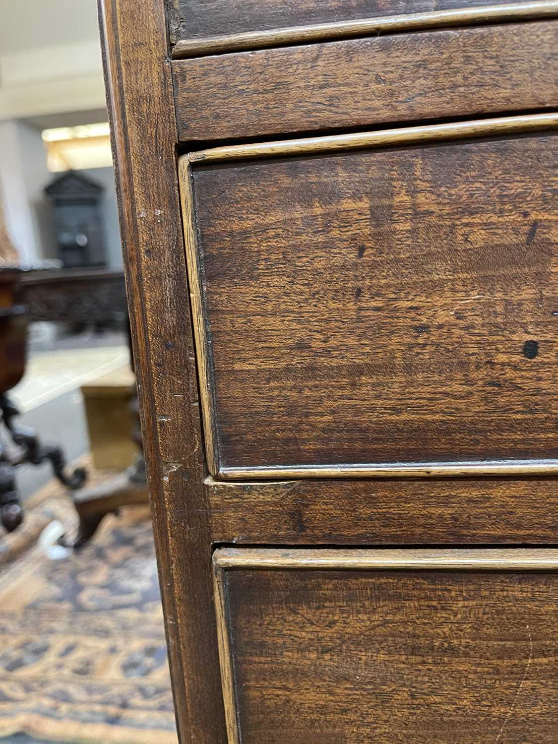 A George III mahogany caddy-top chest of drawers, - Image 12 of 48