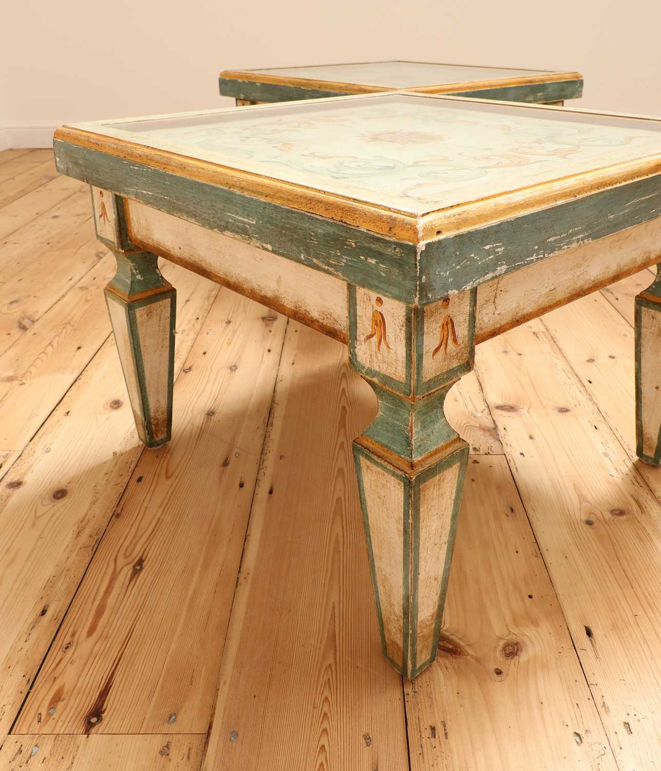 A pair of Continental painted wood low tables, - Image 4 of 7