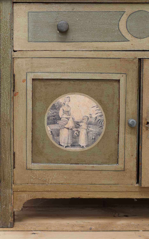 A painted oak larder cupboard, - Image 6 of 8