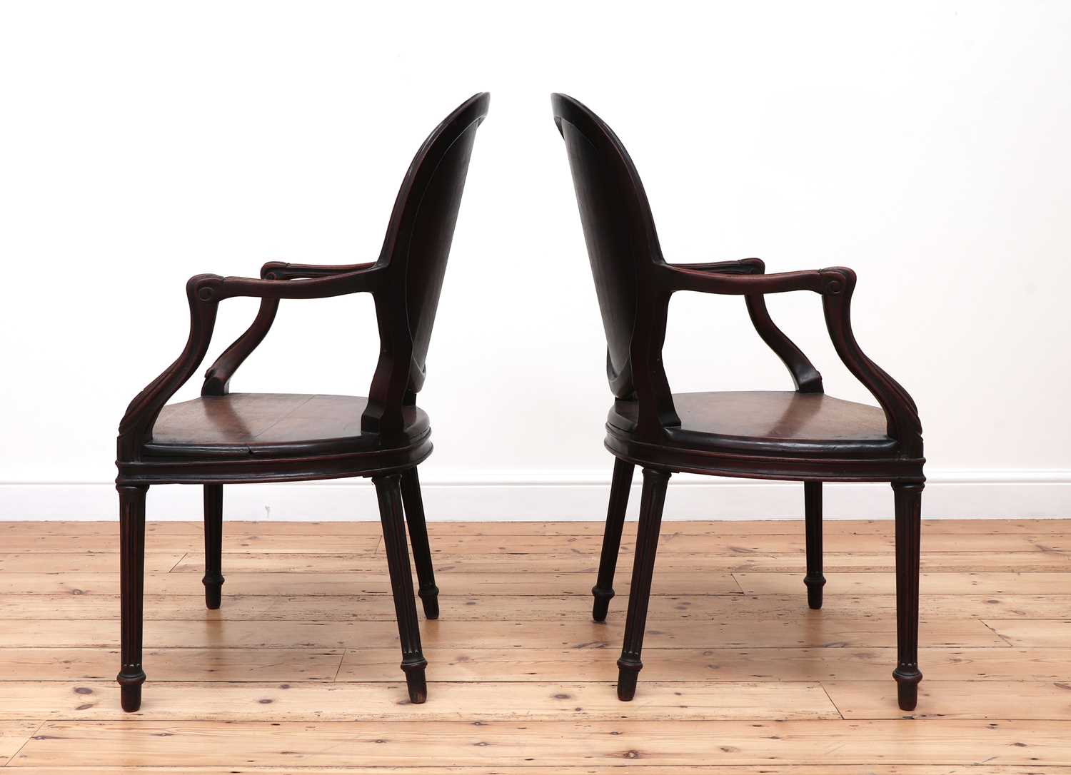A pair of mahogany hall chairs, - Image 5 of 119