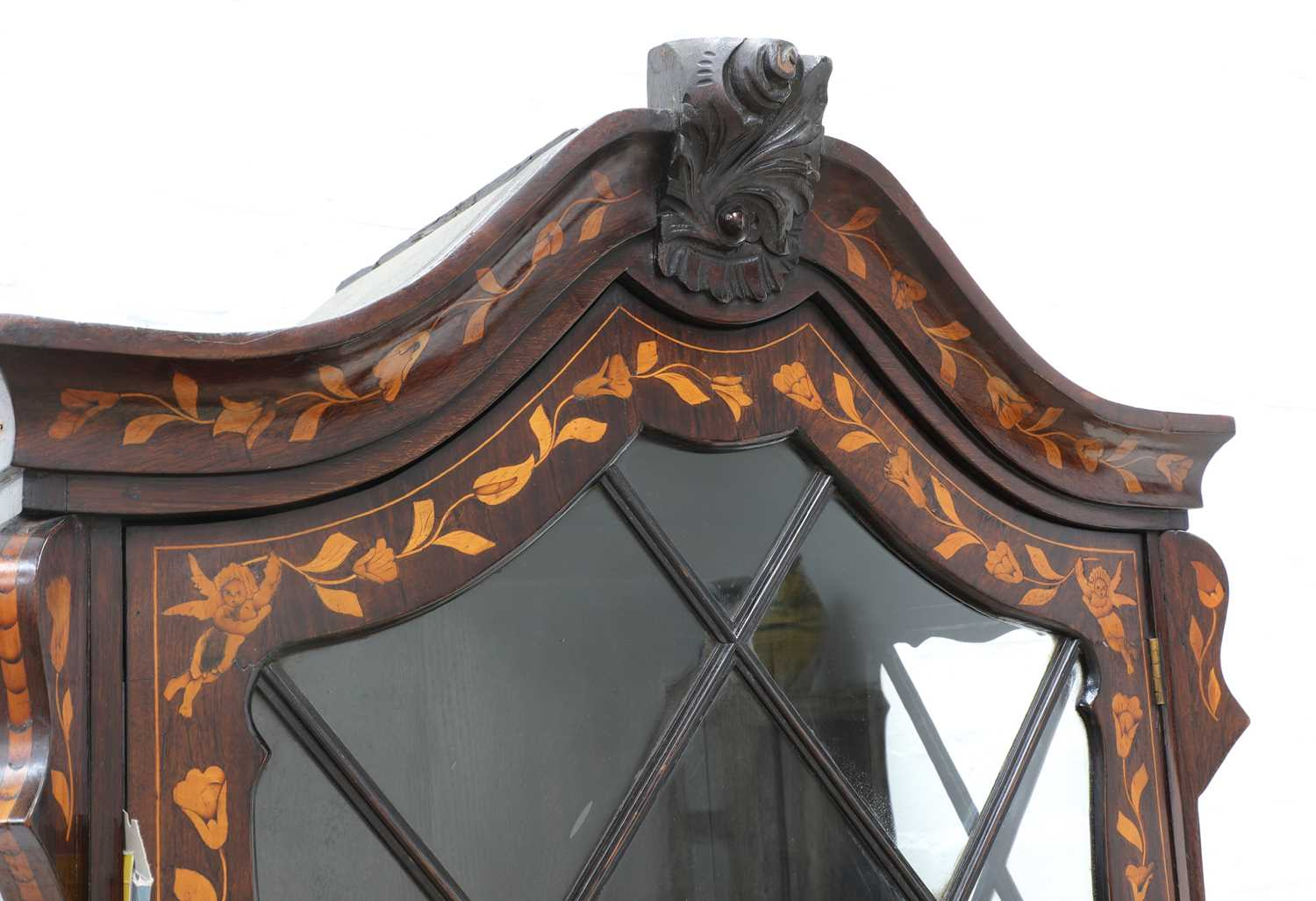 A Dutch marquetry cabinet on chest, - Image 5 of 10
