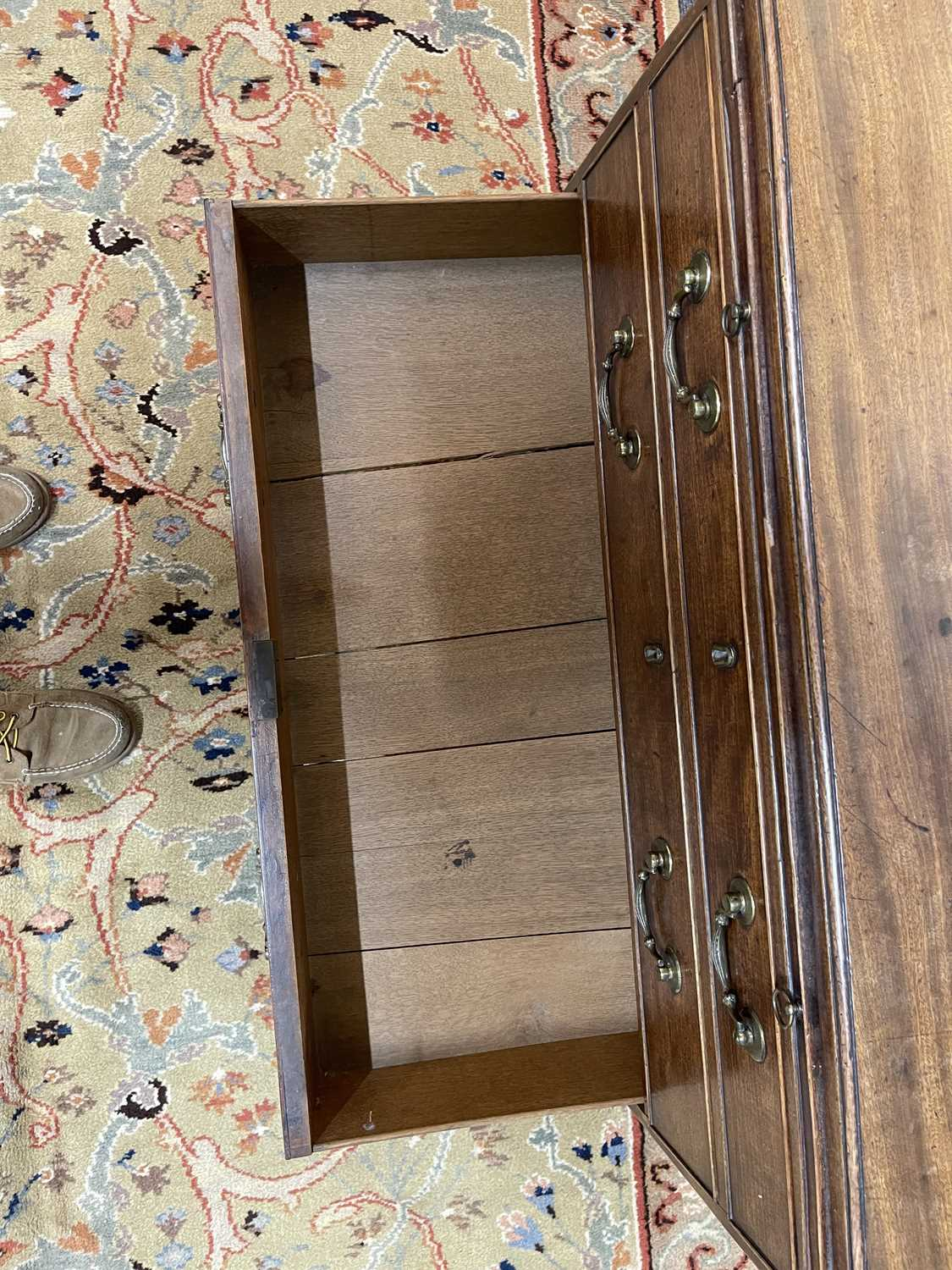 A George III mahogany caddy-top chest of drawers, - Image 19 of 48