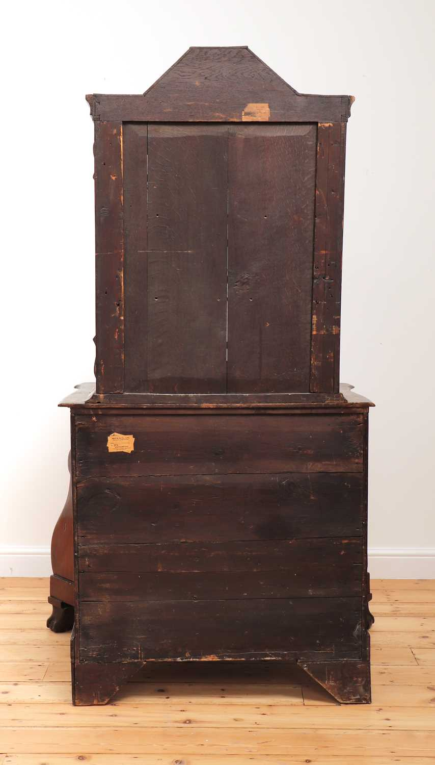 A Dutch marquetry cabinet on chest, - Image 4 of 10