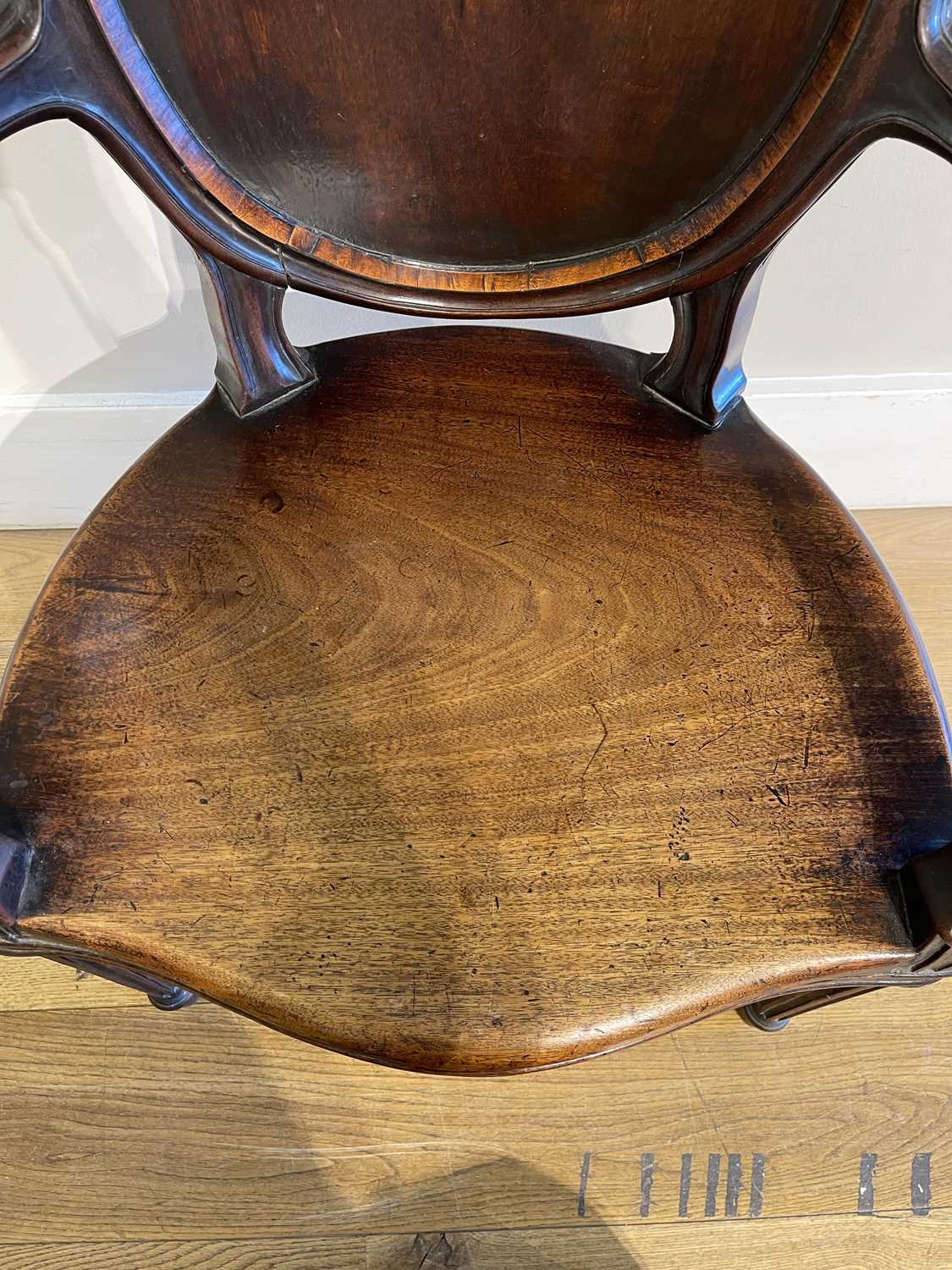 A pair of mahogany hall chairs, - Image 92 of 119