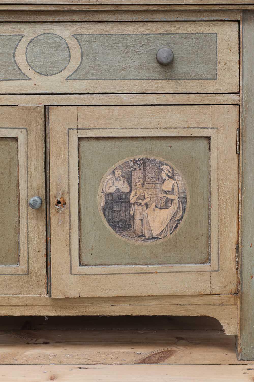 A painted oak larder cupboard, - Image 5 of 8