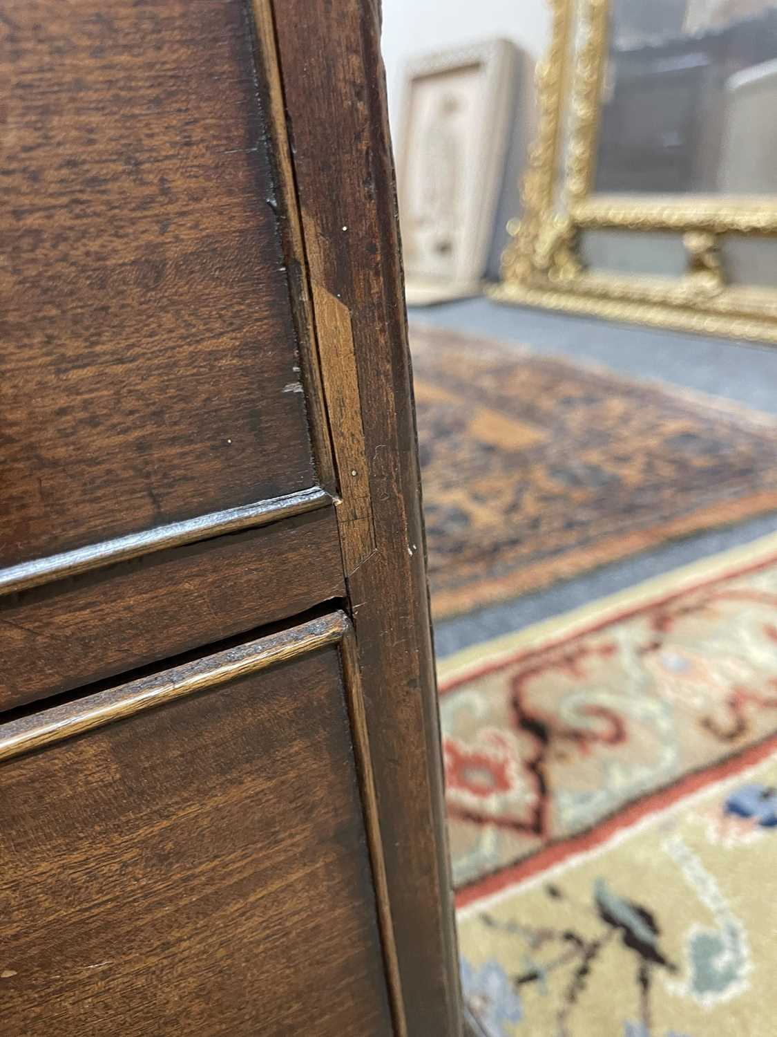 A George III mahogany caddy-top chest of drawers, - Image 17 of 48