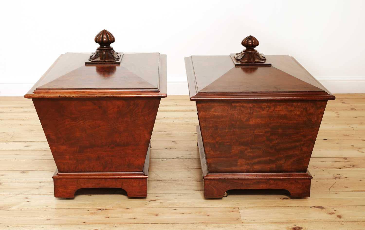 A near pair of mahogany wine coolers, - Image 4 of 10