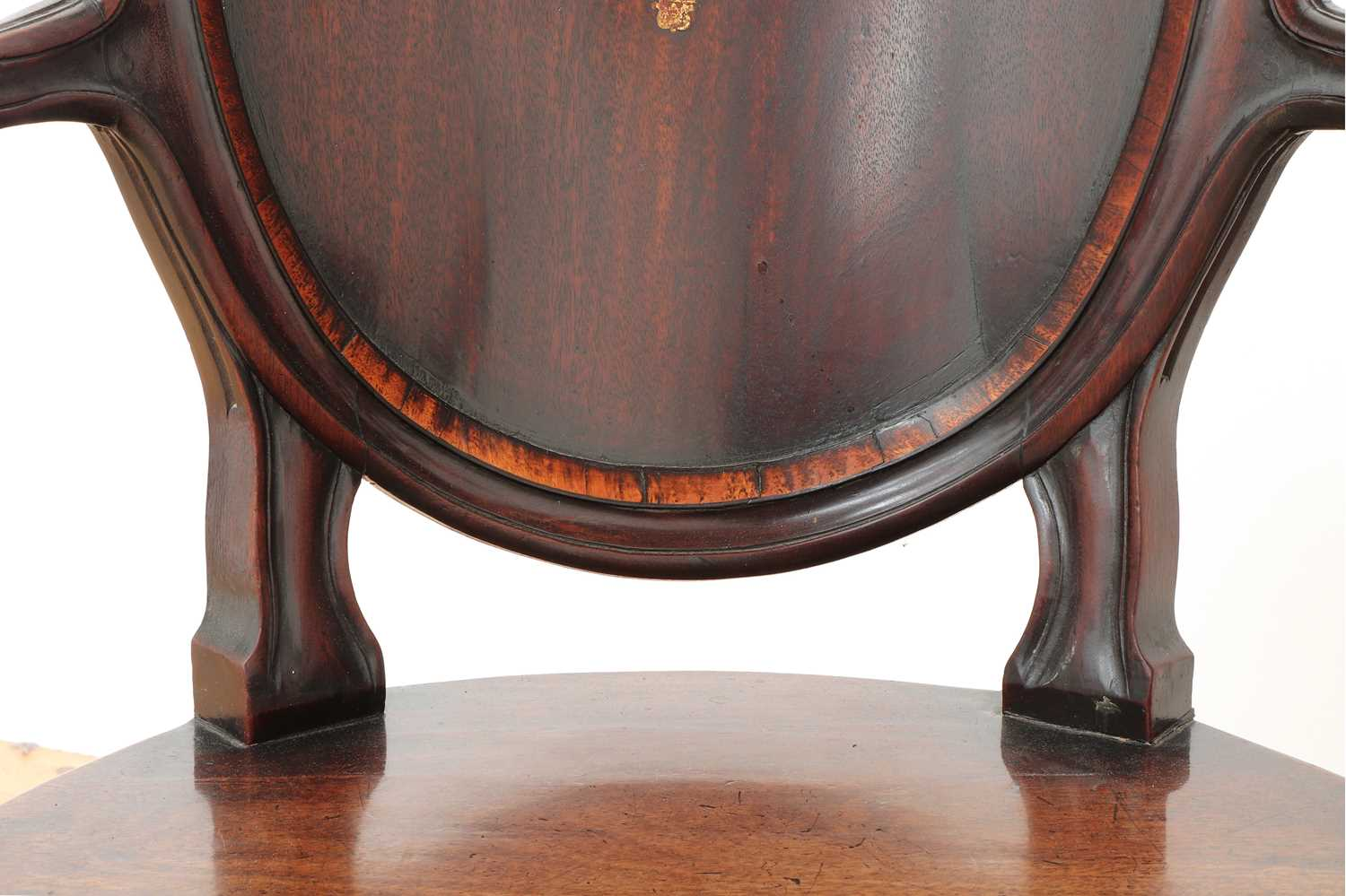 A pair of mahogany hall chairs, - Image 15 of 119