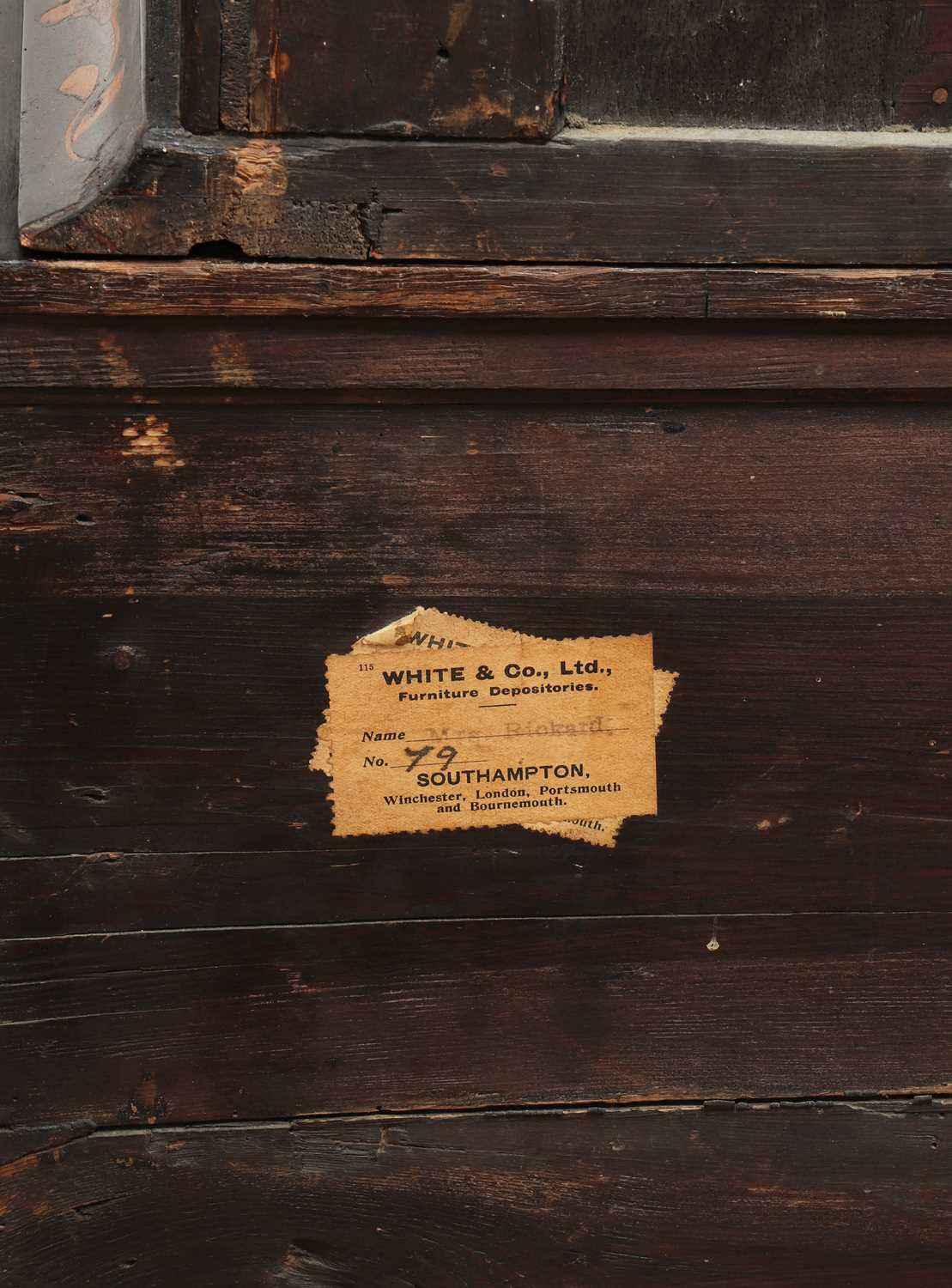 A Dutch marquetry cabinet on chest, - Image 8 of 10