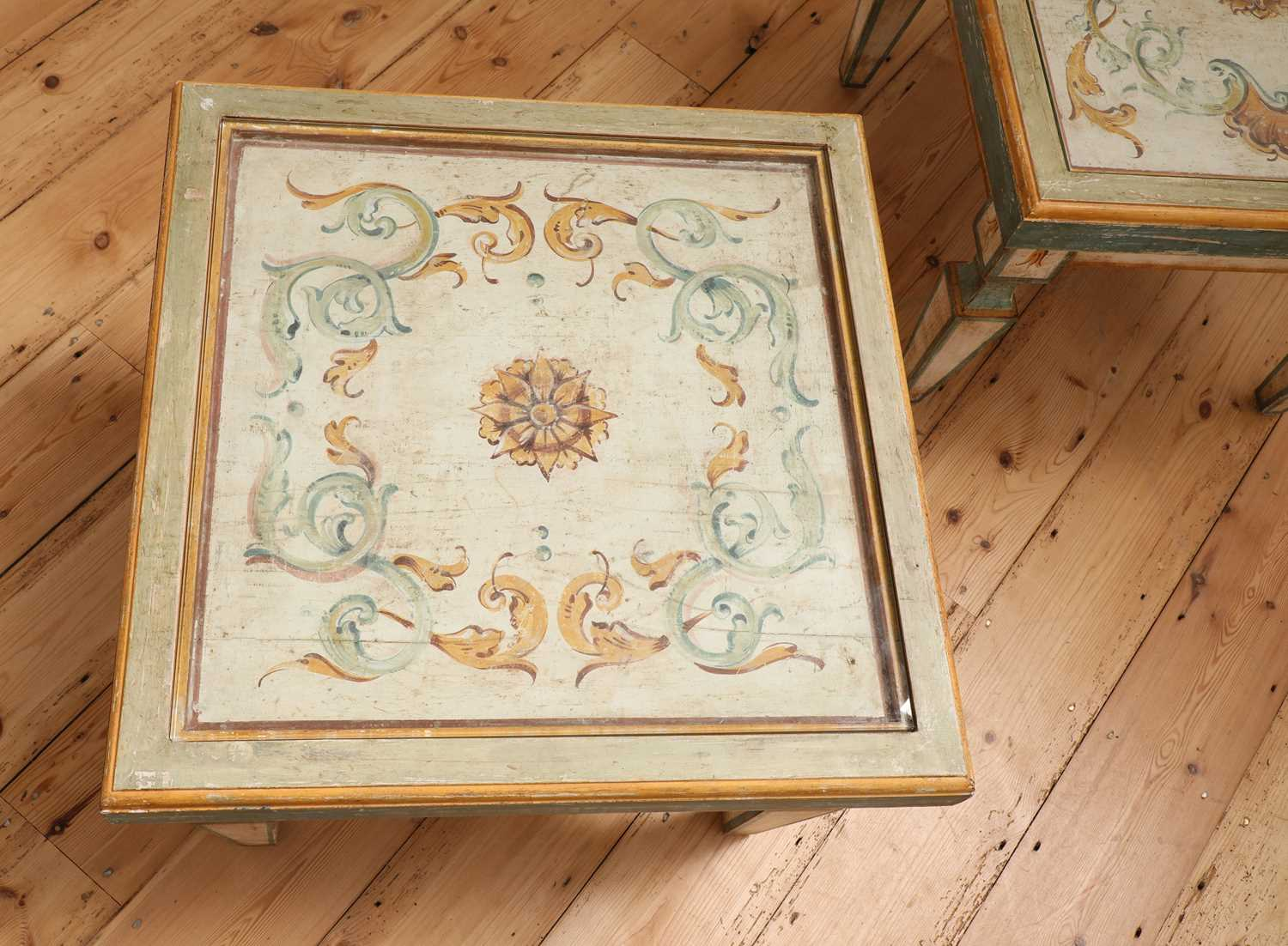A pair of Continental painted wood low tables, - Image 3 of 7