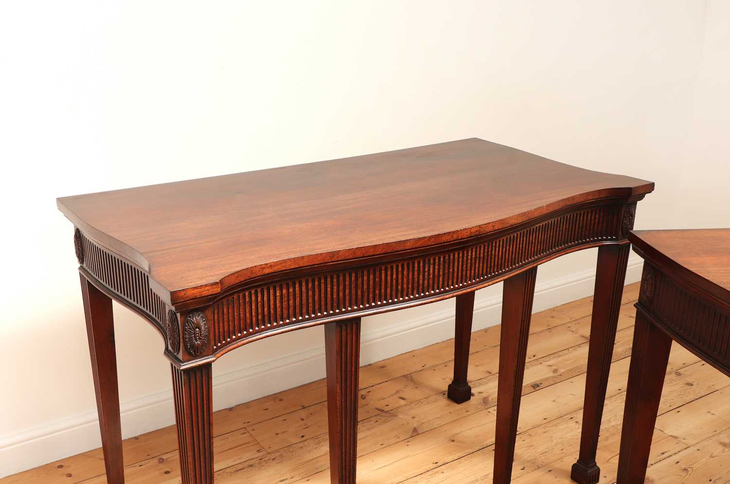 A pair of mahogany console tables, - Image 5 of 10