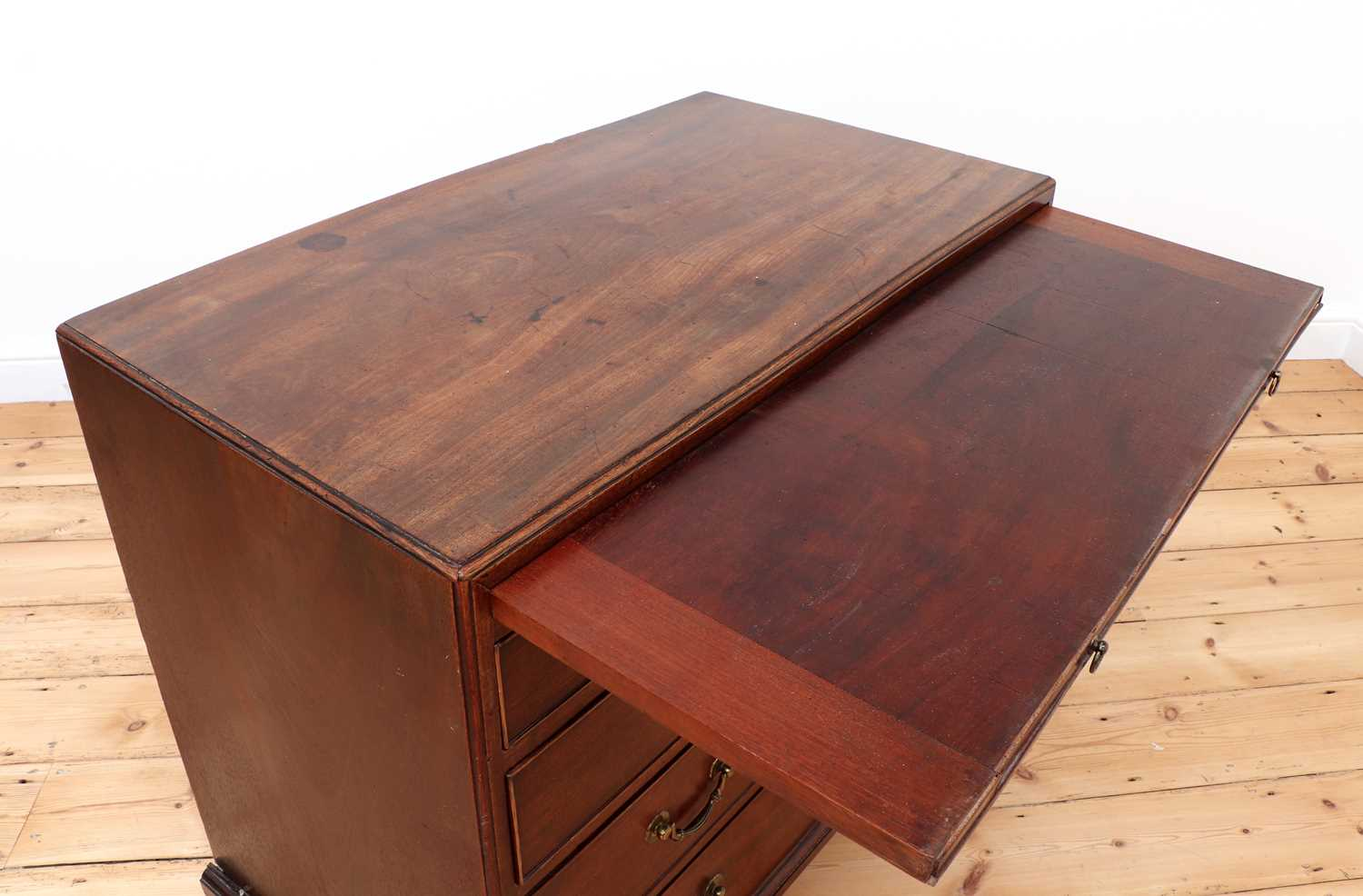 A George III mahogany caddy-top chest of drawers, - Image 3 of 48