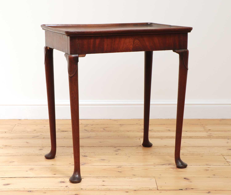 A George II mahogany silver table,