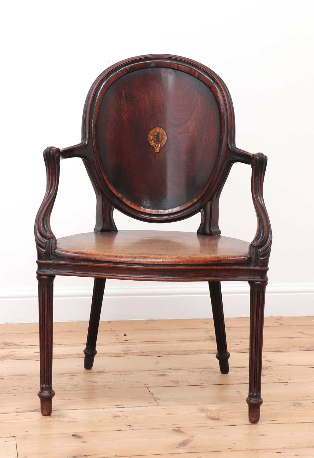 A pair of mahogany hall chairs, - Image 7 of 119