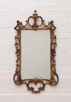 A George III-style giltwood wall mirror,