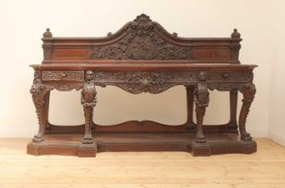 A large mahogany serving table by Gillows of Lancaster,