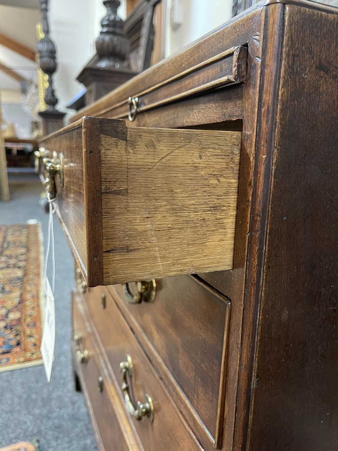 A George III mahogany caddy-top chest of drawers, - Image 46 of 48