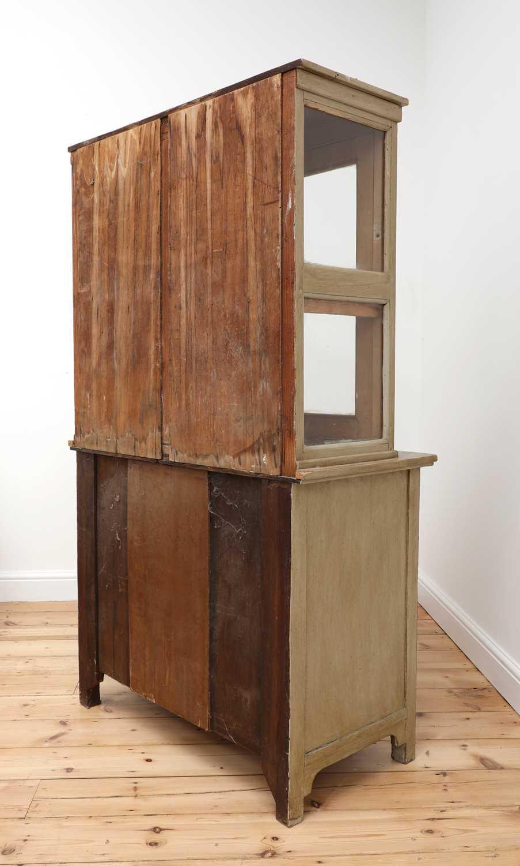 A painted oak larder cupboard, - Image 7 of 8