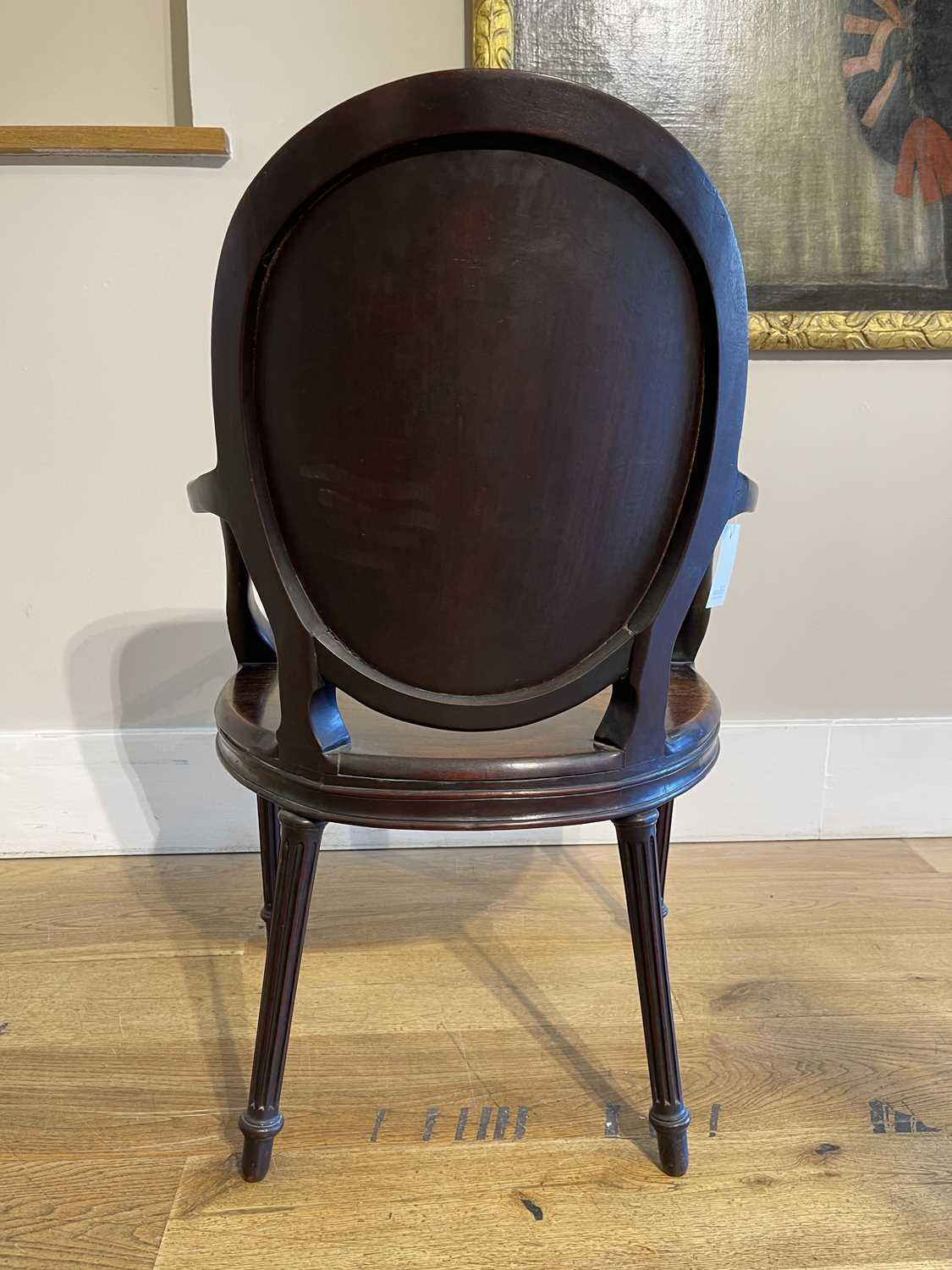 A pair of mahogany hall chairs, - Image 108 of 119