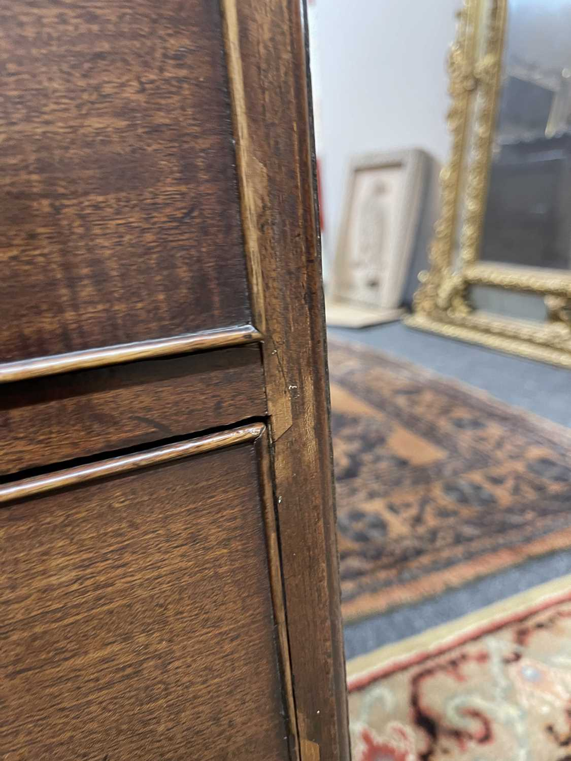 A George III mahogany caddy-top chest of drawers, - Image 15 of 48
