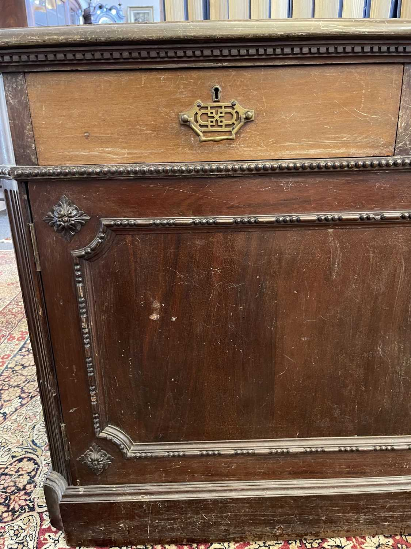 A George III-style walnut partners' desk, - Image 20 of 24