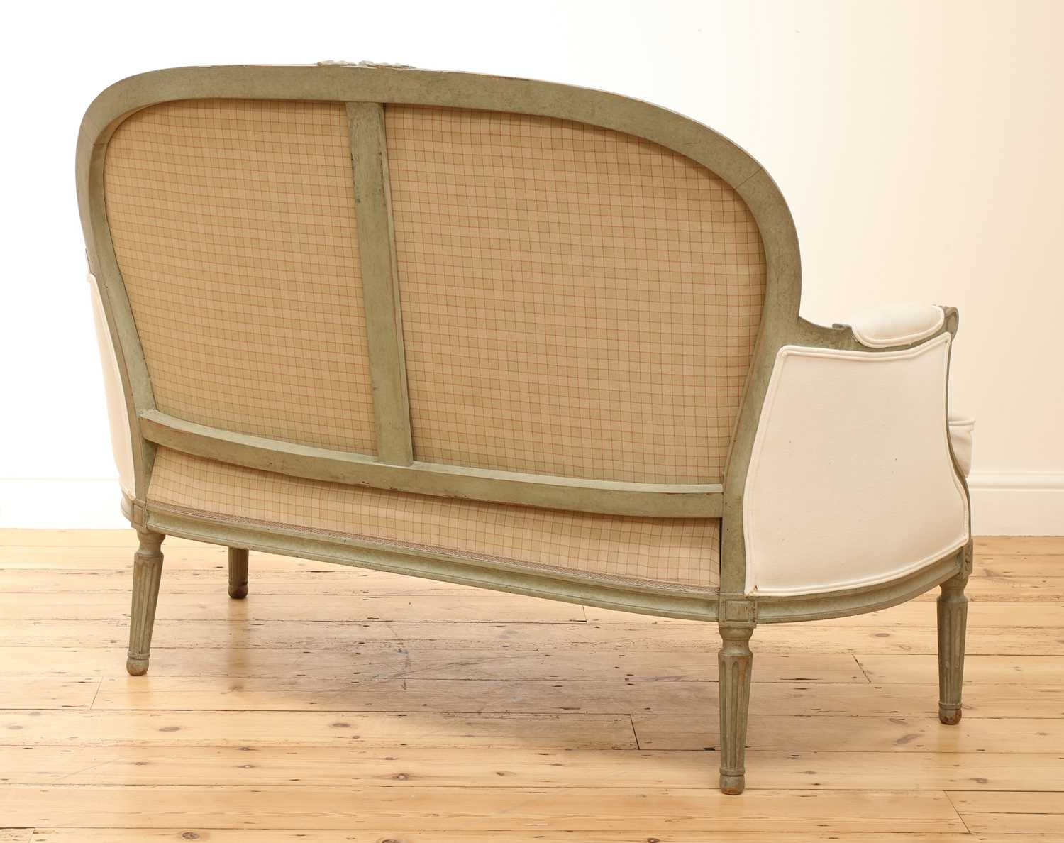 A small French Louis XVI-style settee, - Image 3 of 4