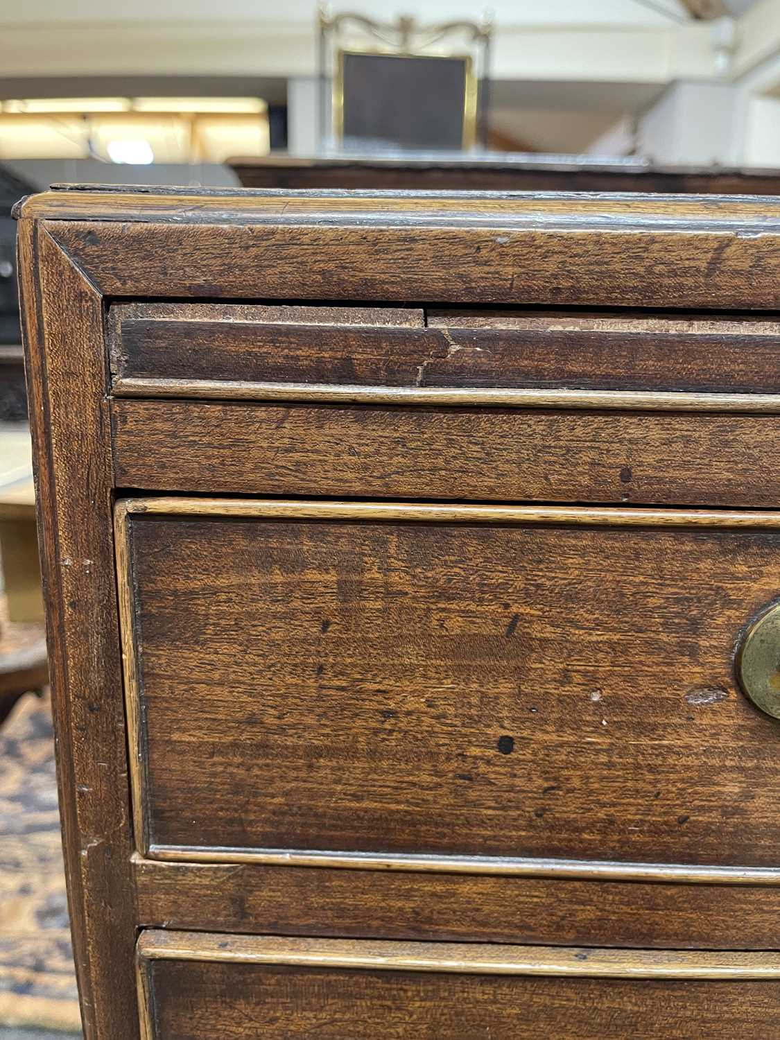 A George III mahogany caddy-top chest of drawers, - Image 7 of 48