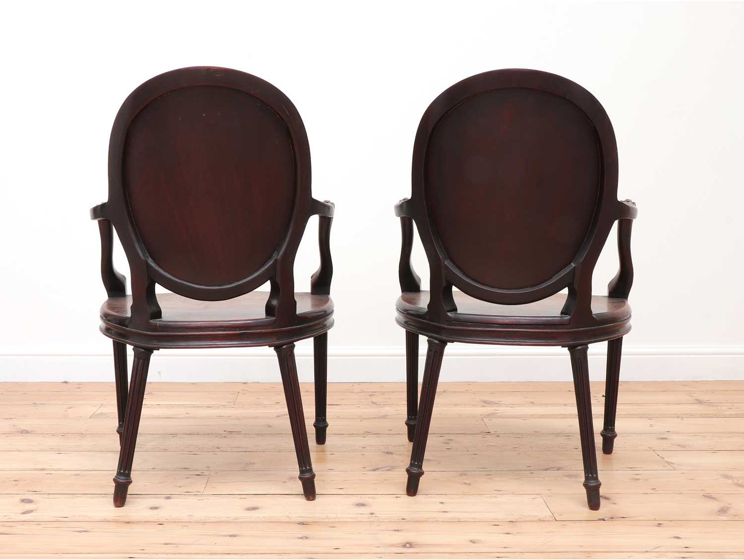 A pair of mahogany hall chairs, - Image 6 of 119