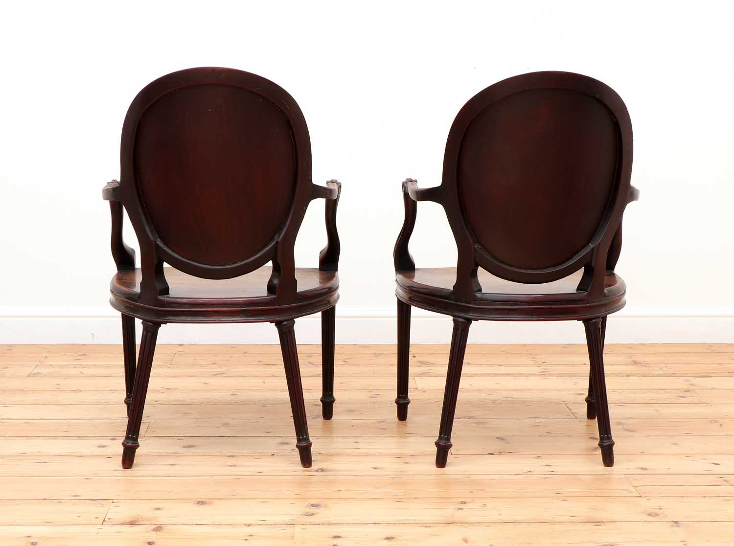 A pair of mahogany hall chairs, - Image 4 of 119
