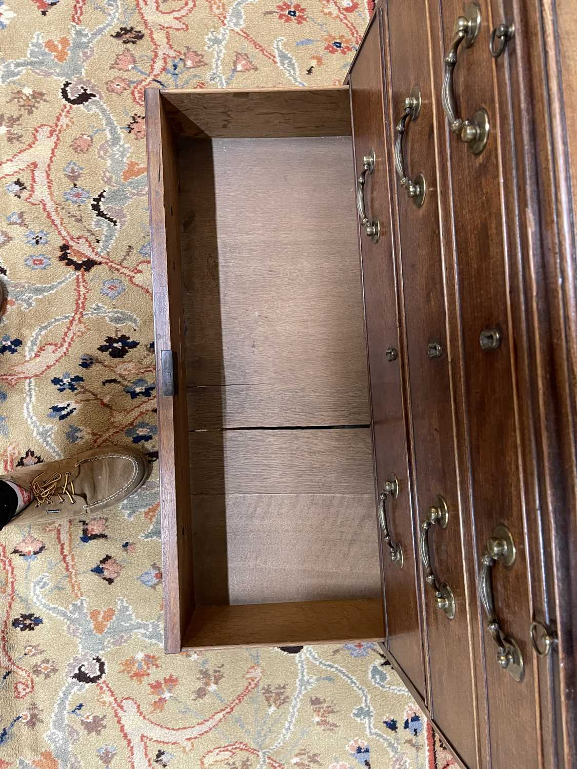 A George III mahogany caddy-top chest of drawers, - Image 36 of 48