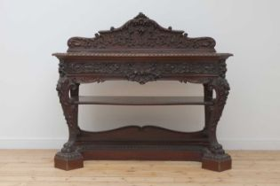 A mahogany serving table by Gillows of Lancaster,