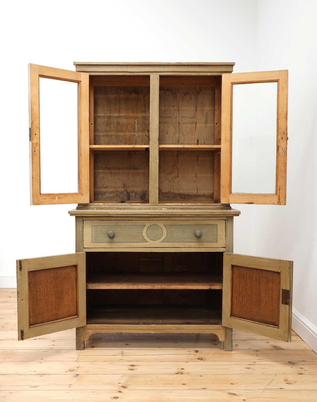 A painted oak larder cupboard, - Image 3 of 8