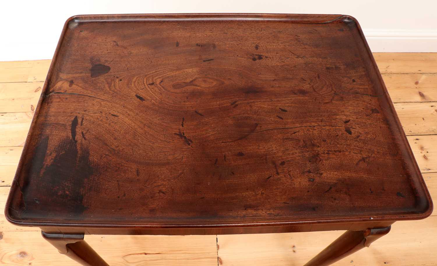 A George II mahogany silver table, - Image 5 of 9