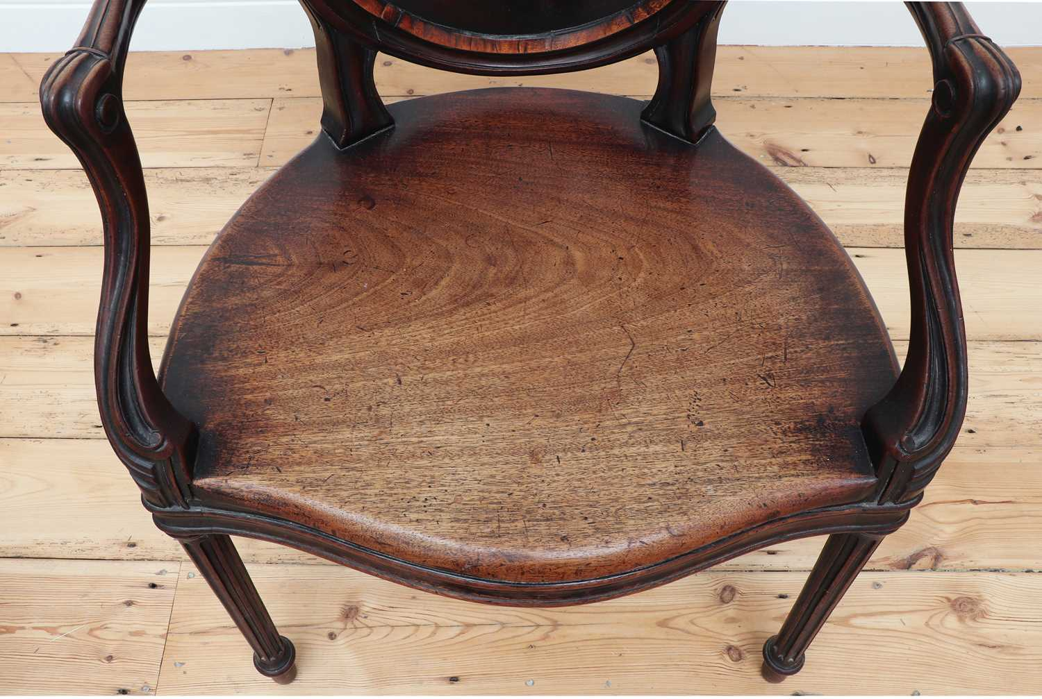 A pair of mahogany hall chairs, - Image 16 of 119