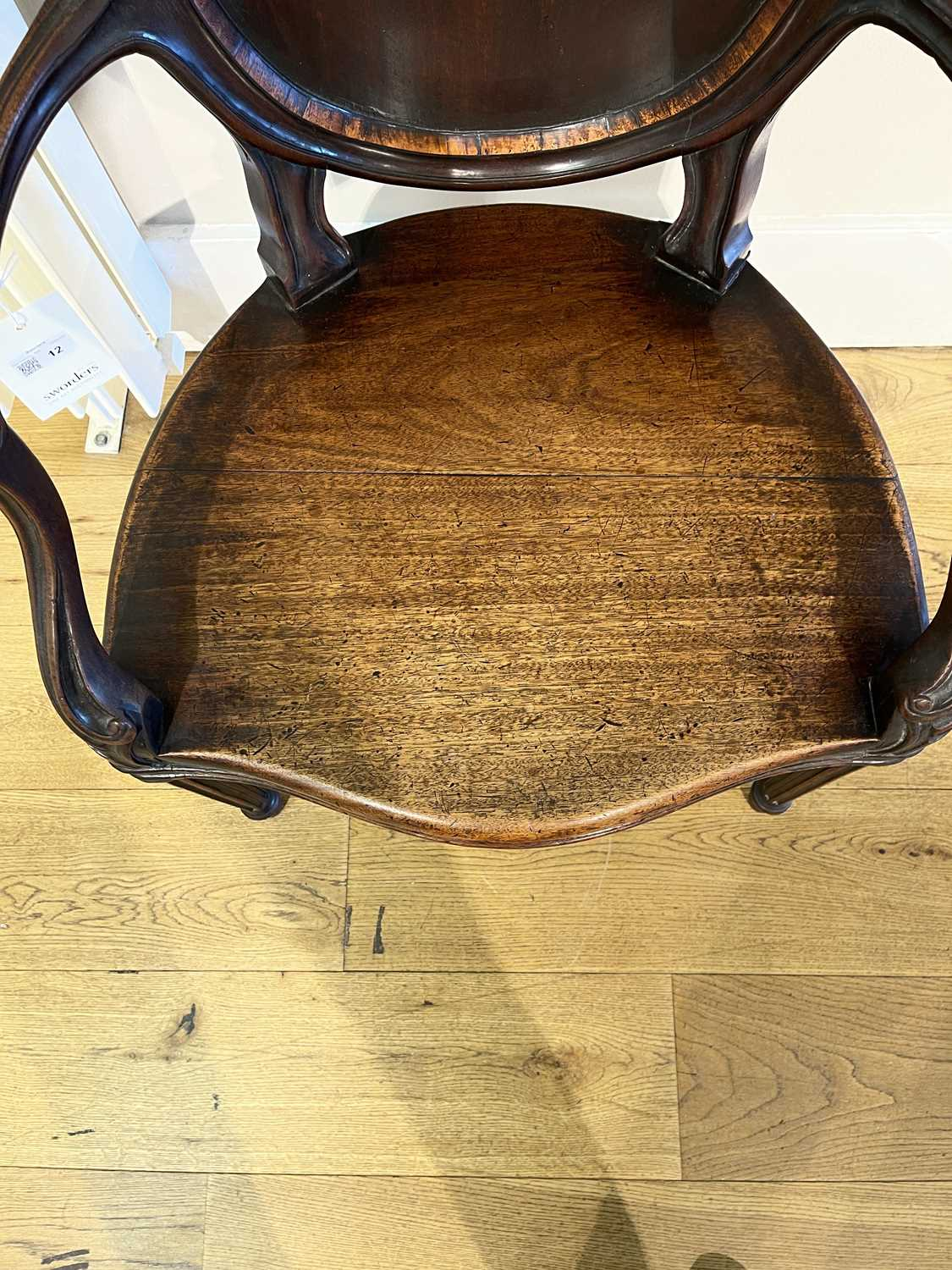 A pair of mahogany hall chairs, - Image 51 of 119