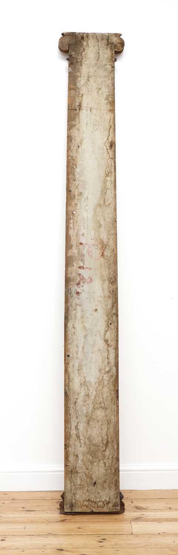 A carved oak pilaster, - Image 4 of 4