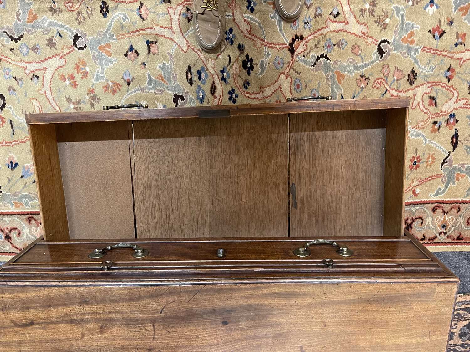A George III mahogany caddy-top chest of drawers, - Image 20 of 48
