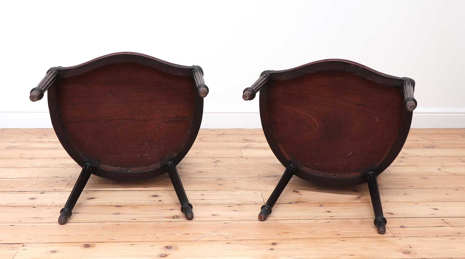 A pair of mahogany hall chairs, - Image 9 of 119