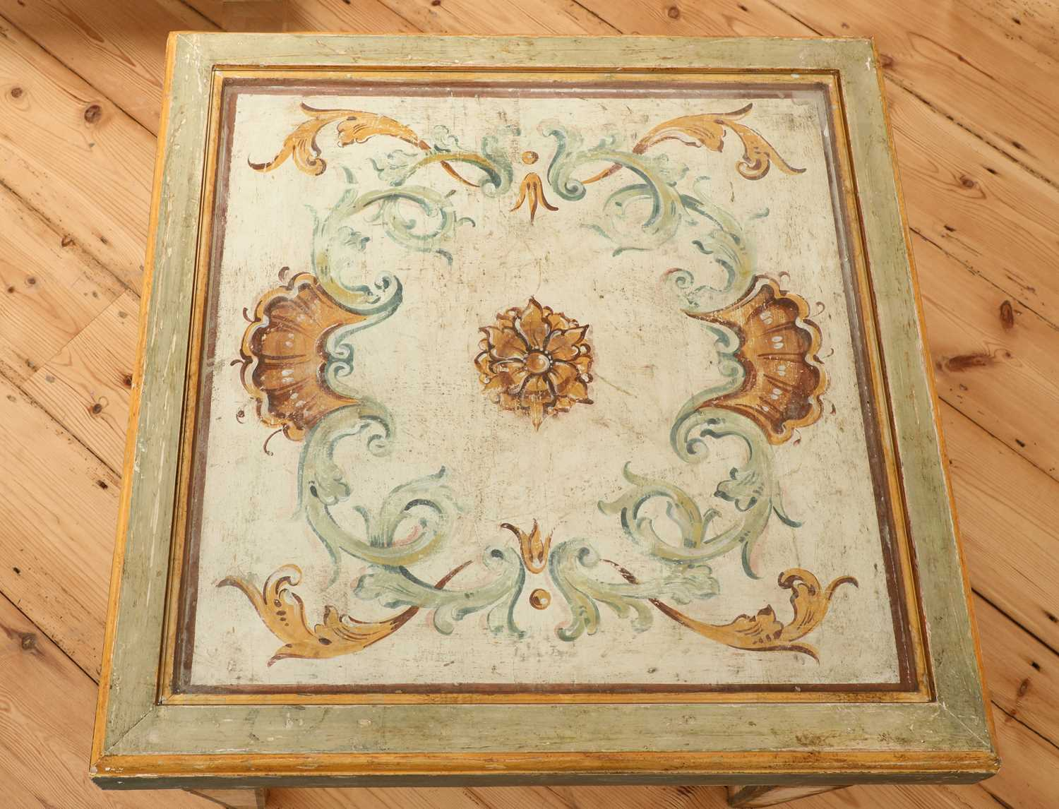 A pair of Continental painted wood low tables, - Image 2 of 7