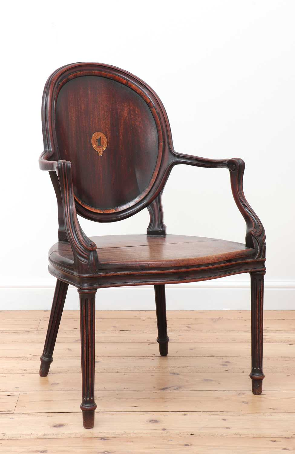 A pair of mahogany hall chairs, - Image 8 of 119