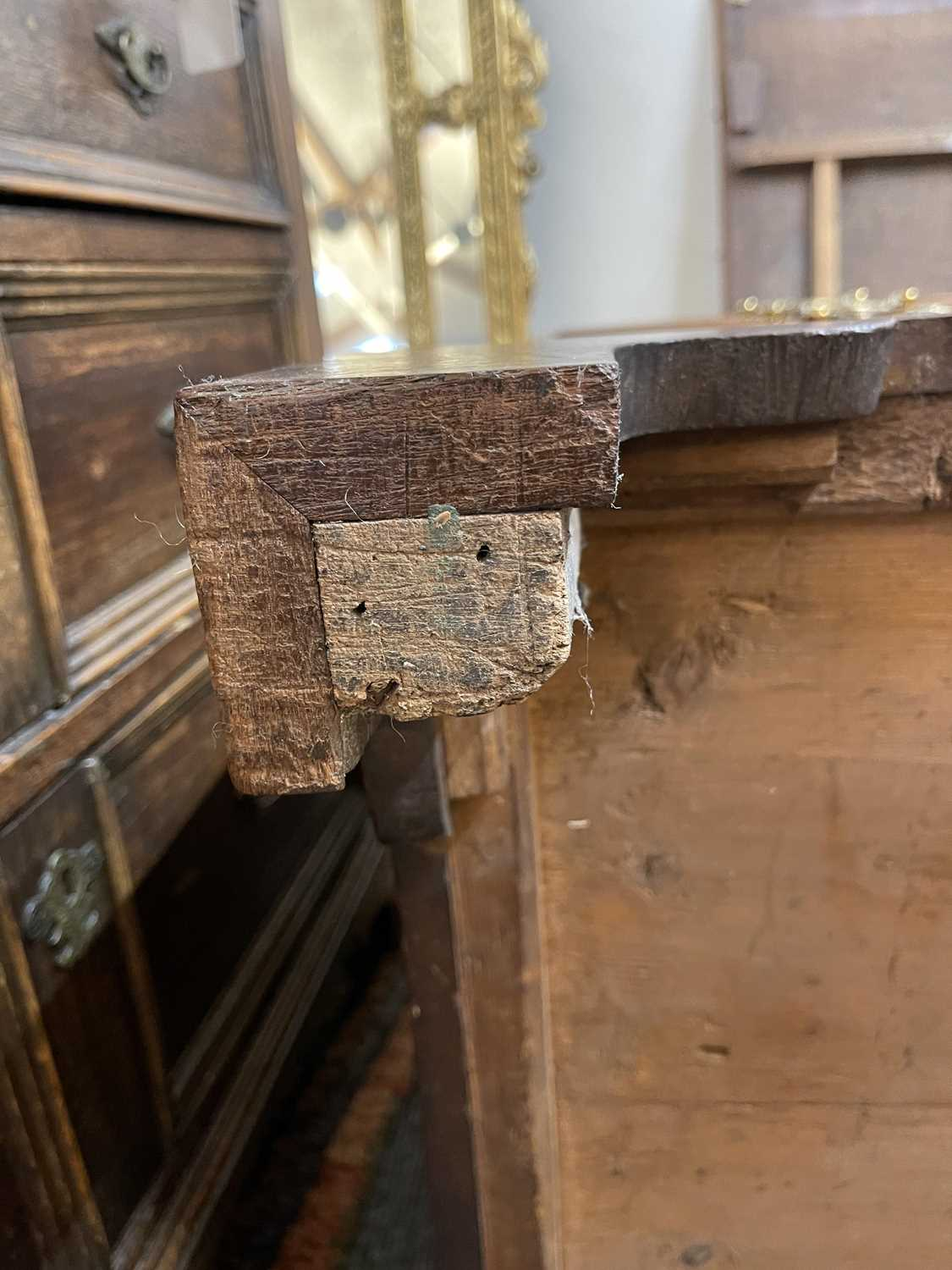 A George III mahogany caddy-top chest of drawers, - Image 30 of 48