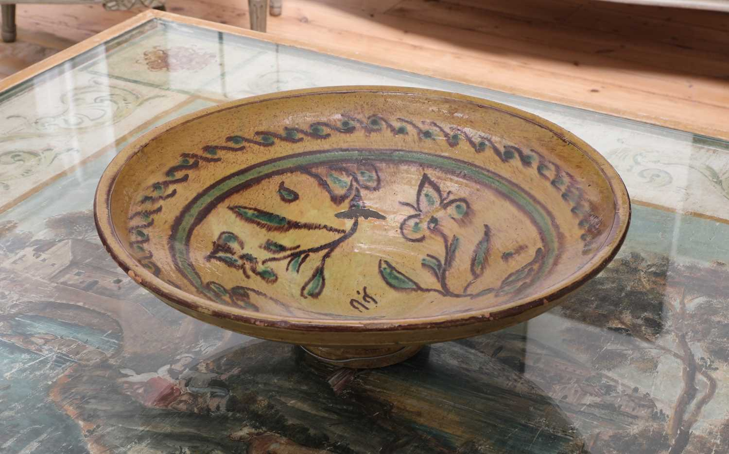 A pair of large French pottery vases, - Image 4 of 5