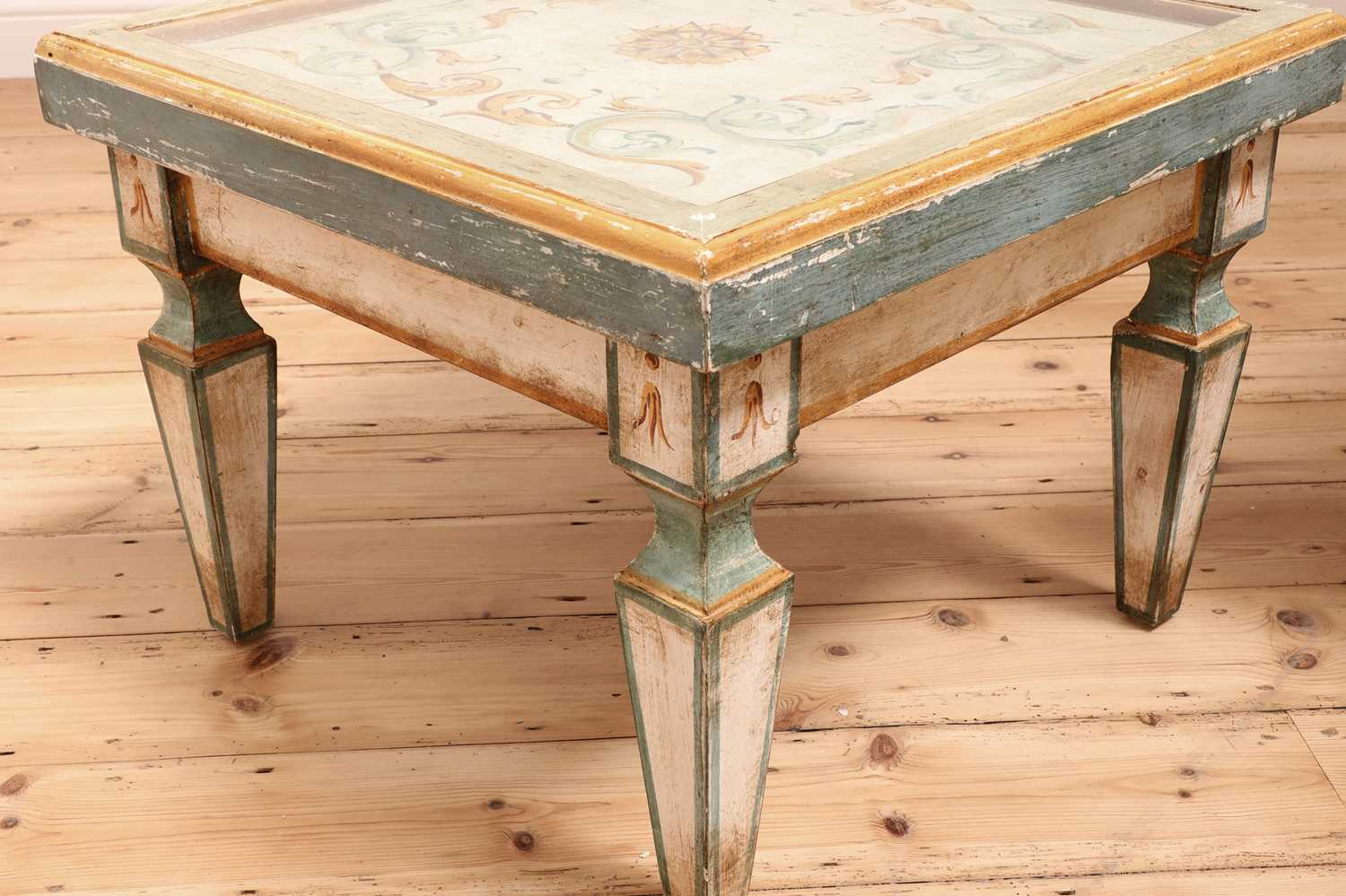 A pair of Continental painted wood low tables, - Image 6 of 7