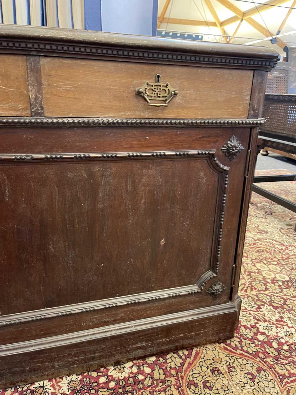 A George III-style walnut partners' desk, - Image 7 of 24