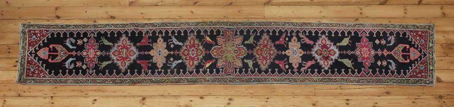 A large Persian runner,